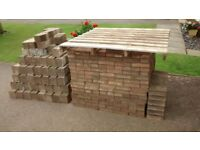 large assortment of block paving