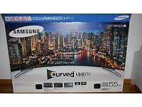 "Samsung Ue55hu8500 55"" Curved 4K TV & Soundbar, + Samsung WAM250 Multi-Room Speaker Hub"