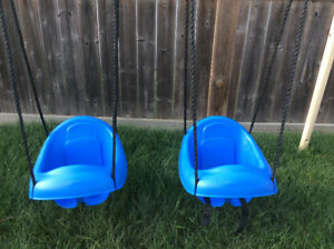 Two Play Star toddler swings with rope.  $10.00 each