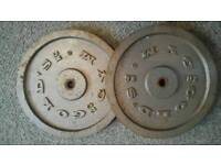 Golds gym 20kg iron weights