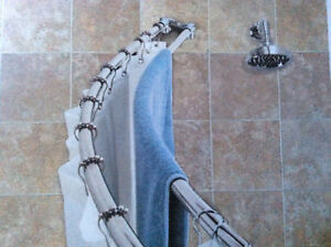 Rounded Double Shower Curtain Rod