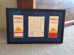 1961 SHELL ROAD MAP CUSTOM PICTURE