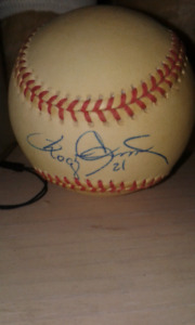 Roger Clemens autographed ball