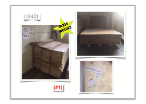 "(442-1} PLYWOODS >>""RUSSE"" - (60""x 60""x 3/16""& 1/4"") - 3.99$ /ch"