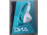 Brand New Sealed Monster DNA On-Ear Headphones (White/Teal)