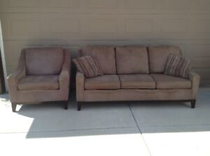 Couch & Chair - Taupe colour - Moving - Priced to Sell