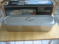 Fish Poacher, stainless steel, 24 inch/61 cm