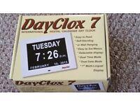 DayClox 7 international digital calendar day clock