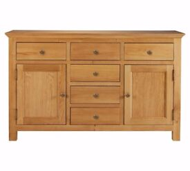 Ex Display Kingsbury Large Oak & Oak Veneer Sideboard