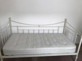 Cream Metal Framed Day Bed from Feather & Black