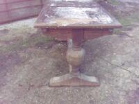 Vintage oak table restoration project