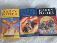 Hardback Harry Potter books