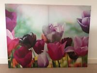 Large tulips canvas