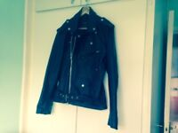Black leather bikers jacket size small
