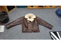 real leather bomber jacket.