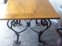Matching Oak coffee & lamp table