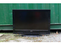 "BLACK COLOUR TELEVISION FLAT SCREEN 18""X 32"" SCREEN ACOUSTIC SOLUTIONS COOD WORKING ORDER"