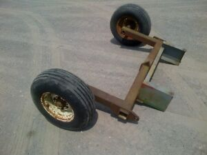Farm axle with wheels for sale