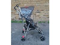 BabyStart Black Pushchair/Stroller In Very Good Condition
