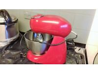kenwood patissier food mixer in red