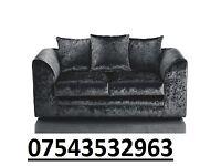 brand new sofa crush velvet black as in pic
