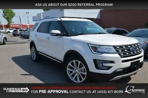 2017 Ford Explorer Limited, 4WD, LEATHER, BACKUP CAM, MOONROOF