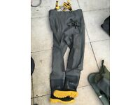 Team vass edition 700 size8 fishing waders