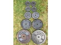 Cast Iron Weights Body Power 80KG with 6 ft barbell