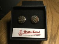 Next Harris Tweed Cufflinks