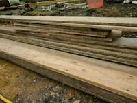 Reclaimed floor boards and joists