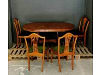 WOODEN Table + 4 Chairs,Delivery Available 🚚