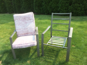 Lawn chairs, set of 4