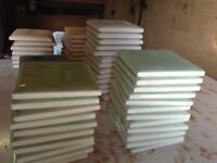 Ceramic tiles for sale all different sizes white green blue pink also tub of tile adhesive 10 lt
