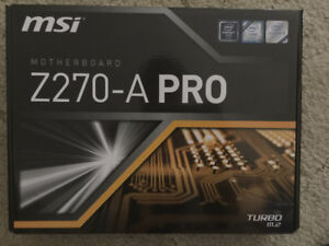 Motherboard - MSI Z270-A Pro