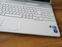 sony laptop for sale led screen 15.6, white shiny glitter beautiful you will love it