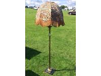 Bronze standing lamp with shade