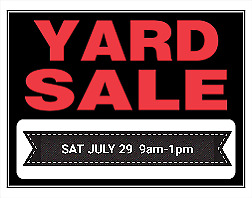 YARD SALE - PIES FOR SALE