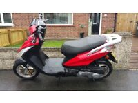 Sinnis Falcon 49cc Moped - 3 Years Old - Full Mot