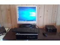 "Windows 10 Desktop PC & 17"" Flat screen Monitor"