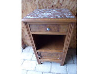 FRENCH VINTAGE WALNUT BEDSIDE POT LAMP CUPBOARD CABINET - COLLECT HAMPSHIRE