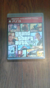 Gta 5 for ps3 opened but never used