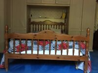 two single bed and one double bed frames