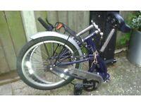 Folding adult bike