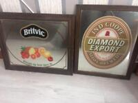 2 old pub mirrors open to offers £35