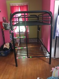 Metal bunk bed frame