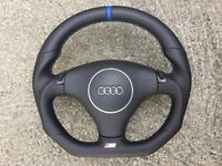 AUDI A3 S3 A4 S4 B6 A6 S6 RS6 C5 A8 TT NEW TIPTRONIC CUSTOM MADE STEERING WHEEL