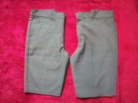 2 x Boys Grey School Shorts Age 9-10 Years IP1
