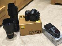 Pro Nikon Camera Kit - D750 + Nikon 24-70 f/2.8 + Sigma 70-200 f/2.8 + Nissin Speedlite