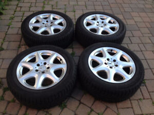 """FOR SALE: Mercedes-Benz S-Class 17"""" Alloy Rims + Michelin X-Ice"""