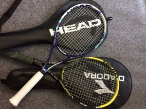 Two Tennis Racquets (one for man, one for woman)